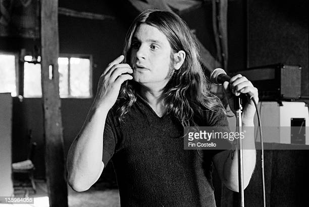 Ozzy Osbourne records the 'Blizzard of Ozz' album at Ridge Farm Studio in West Sussex England in May 1980