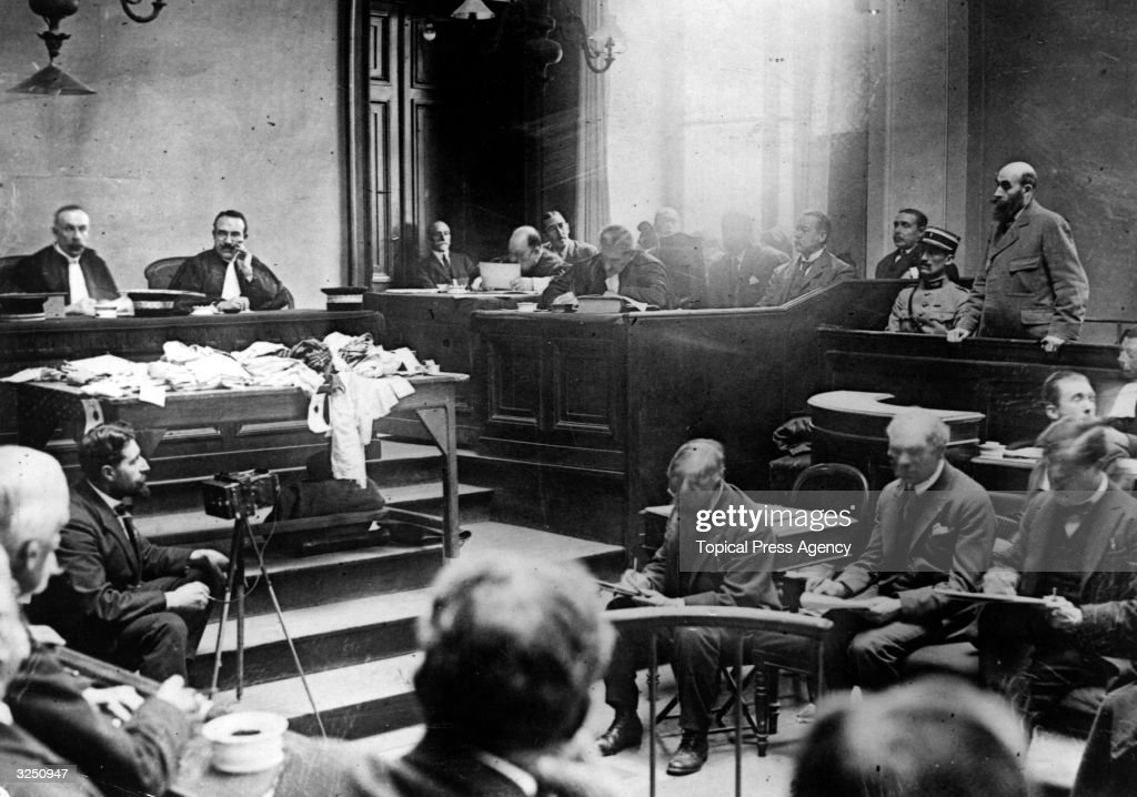 Murderer Henri Desire Landru in court during his trial. Known as the French 'Bluebeard', Landru was found guilty of the murder of ten women and a boy, and guillotined on 25 February 1922.
