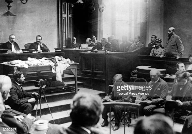 Murderer Henri Desire Landru in court during his trial Known as the French 'Bluebeard' Landru was found guilty of the murder of ten women and a boy...