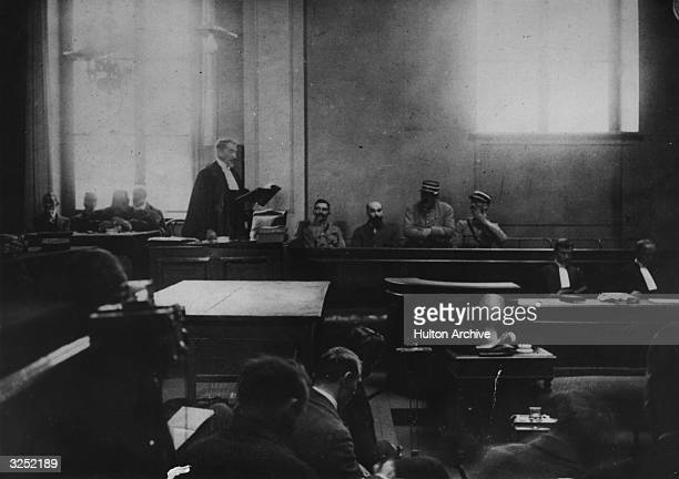Murderer Henri Desire Landru listens as the Advocat General reads out a statement during his trial Known as the French 'Bluebeard' Landru was found...