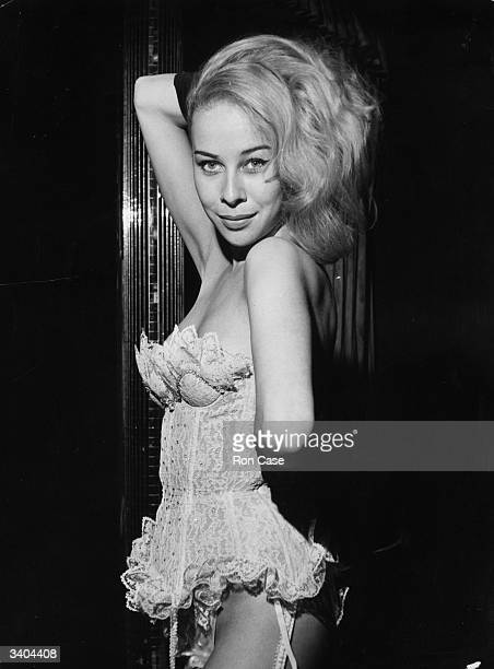 Kathy Keeton former Sadler's Wells Royal Ballet dancer turned stripper performing her act in 'Paris Sensations' at the Casino de Paris London She...