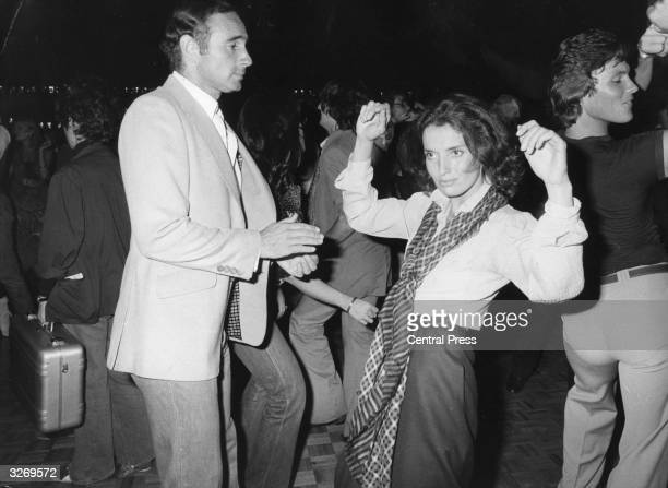 Margaret Trudeau former firstlady of Canada now an aspiring actress enjoys a dance at New York's famous Studio 54 discotheque with her latest...