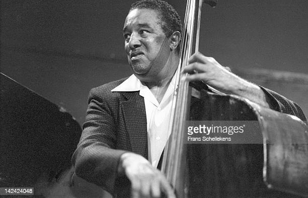 1st NOVEMBER: American jazz bassist Ray Brown performs live on stage at the BIM Huis in Amsterdam, Netherlands on 1st November 1986.