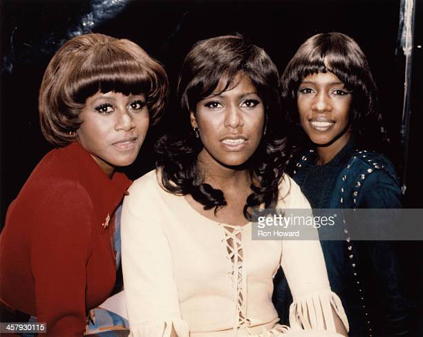 Cindy Birdsong Jean Terrell and Mary Wilson from American vocal group The Supremes posed in London in November 1971