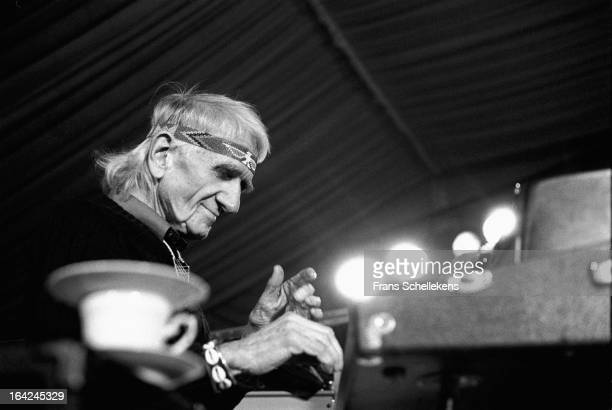 1st NOVEMBER: Jazz pianist and composer Gil Evans performs at the Drum Festival in Amsterdam, Netherlands on 1st November 1987.