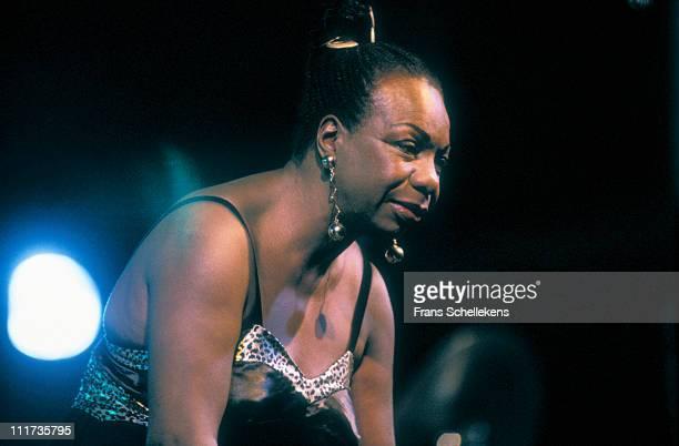 singer Nina Simone performs at Mecc in Maastricht Netherlands on 1st November 1993