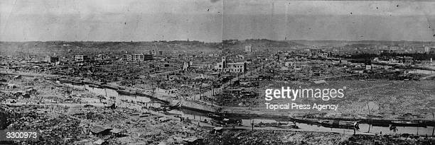A Japanese city in the aftermath of the Japanese earthquake of 1923