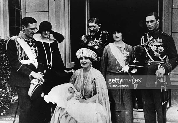 The christening of Crown Prince Peter of Serbia Attending are King Alexander Karadjordjevic of Serbia Queen Eliza of Greece Queen Marie of Romania...