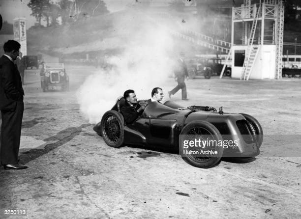 An Austin 7 racer being put through its paces at Brooklands