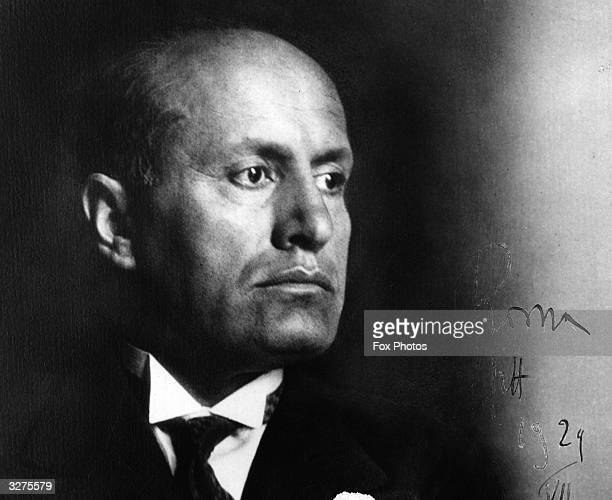Benito Mussolini the Italian dictator and founder of the fascist 'Blackshirt' party in 1919