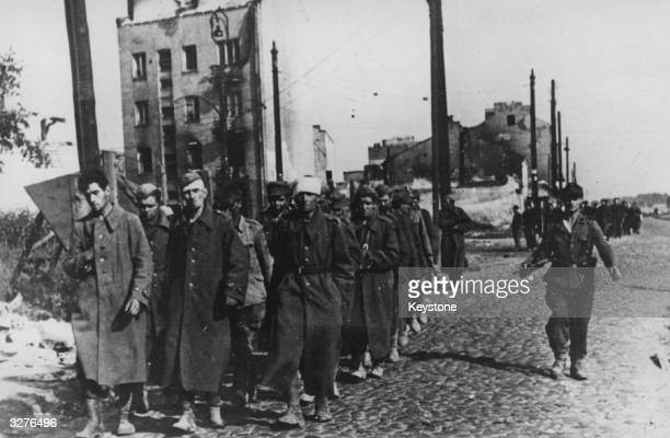 The end of Warsaw's uprising sees a group of city defenders marched off to prison camps by their German captors.