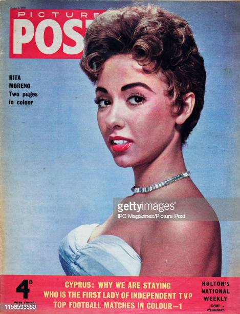 Puerto Rican actress, dancer and singer Rita Moreno is featured for the cover of Picture Post magazine. Original Publication: Picture Post Cover -...