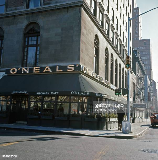 New York City Exterior shot of the original O'Neals Saloon near Lincoln Center Shortly after opening the NY State Liquor Authority forced the owners...