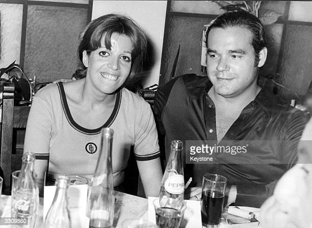 Christina Onassis with her second husband Alexandros Andreadis at the Antion motor rally in Athens Greece