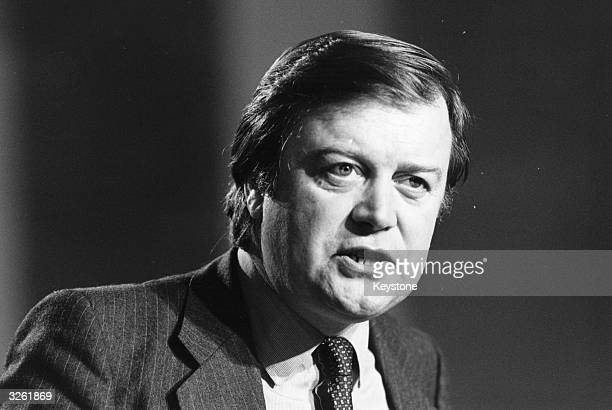 British member of parliament and cabinet minister Kenneth Clarke at the Conservative Party Conference.