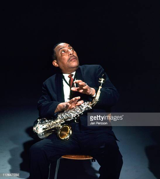 Alto sax player Johnny Hodges in performance in Copenhagen Denmark in January 1967