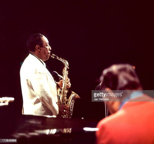 Alto sax player Johnny Hodges in performance with Duke Ellington in Copenhagen Denmark in October 1969