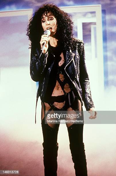 American singer Cher performs live on stage in October 1987