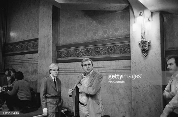 David Sylvian from Japan with their manager Simon NapierBell posed in Paris France in October 1982