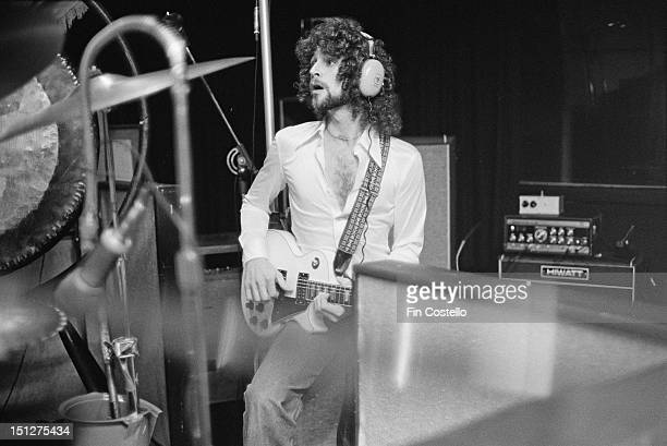 Guitarist and singer Lindsey Buckingham of BritishAmerican rock band Fleetwood Mac in a recording studio in New Haven Connecticut USA October 1975