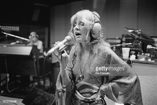 Singer Stevie Nicks of BritishAmerican rock band Fleetwood Mac in a recording studio in New Haven Connecticut USA October 1975