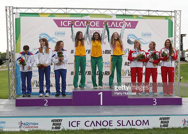 1st Place, Australia, Jessica Fox, Rosalyn Lawrence, Alison Borrows. 2nd Place, Czech Republic, Katerina Hoskova, Monika Jancova, Tereza Fiserova....