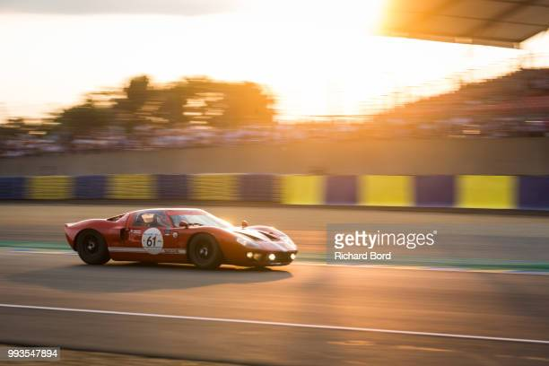 1st place Diogo Ferrao competes with a Ford GT40 MK1 1965 during the Grid 4 Race 1 at Le Mans Classic 2018 on July 7 2018 in Le Mans France