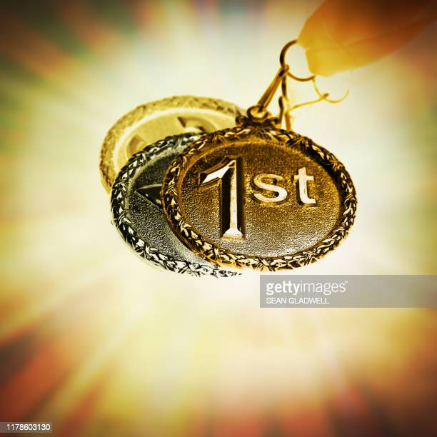 1st place medal - third place stock pictures, royalty-free photos & images