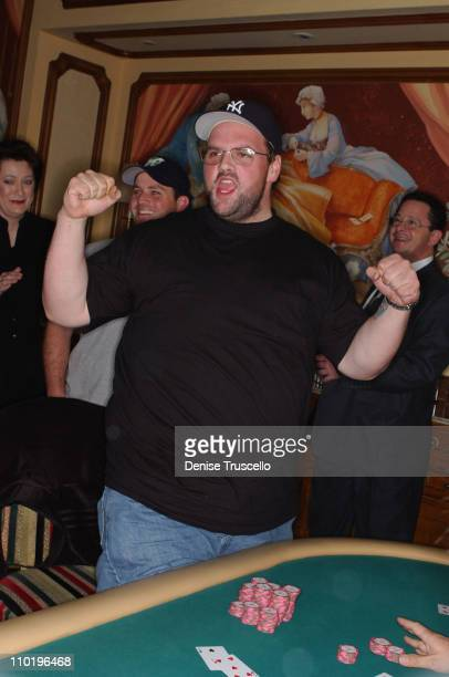 1st Place Winner Ethan Suplee during The First Annual LIGHT Celebrity Poker Tournement at The Bellagio Hotel And Casino Resort in Las Vegas Nevada