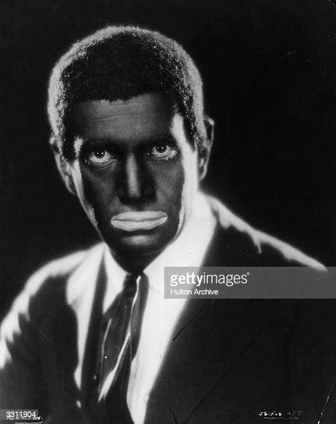 American stage and film performer Al Jolson wearing blackface makeup in the first talkie film 'The Jazz Singer'