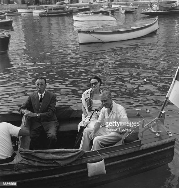 The Duke and Duchess of Windsor on a launch that will take them to their yacht the Sister Anne' in Portofino harbour Original Publication Picture...
