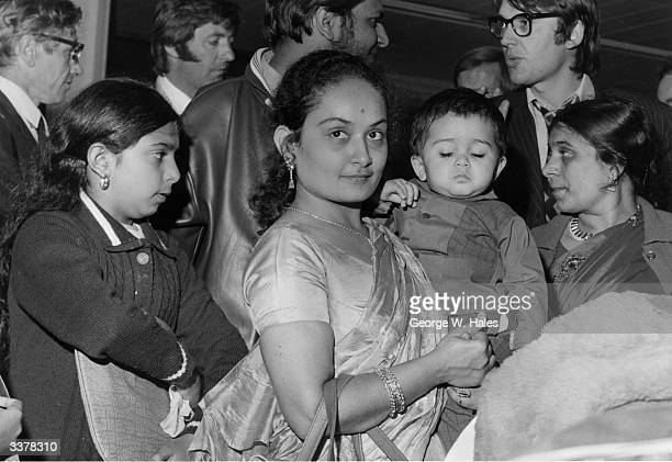 The first Asians to be expelled from Uganda under the regime of Idi Amin have arrived in England. Mrs Sushila and her 10 year old daughter , arrive...