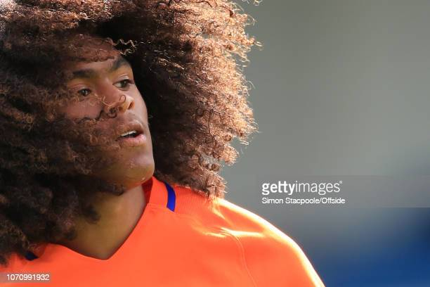1st September 2016 - International Friendly - England U19 v Netherlands U19 - Tahith Chong of Netherlands shows off his afro hairstyle - .
