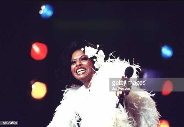 American singer Diana Ross performs live on stage in Copenhagen Denmark in September 1973