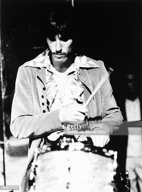 Drummer John Densmore from The Doors performs live on stage in September 1968