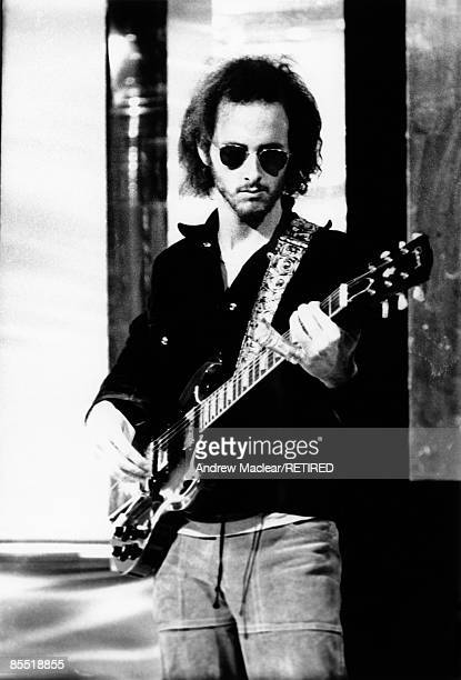 Guitarist Robbie Krieger from The Doors performs live on stage in September 1968