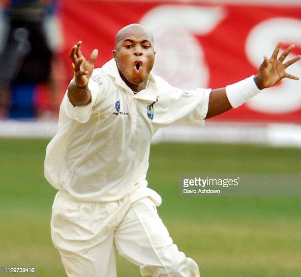 1st TEST 3rd DAY AT SABINA PARK JAMAICA TINO BEST AFTER TAKING THE WICKET OF ANDREW FLINTOFF.