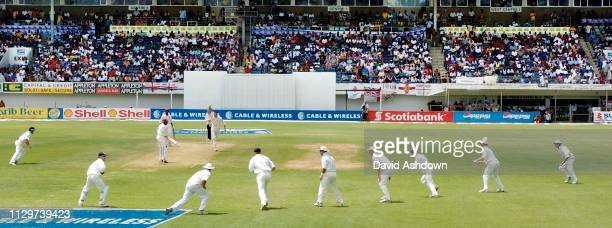 1st TEST 4th DAY AT SABINA PARK JAMAICA HARMONSON TAKES THE LAST WICKET and his 7th wicket.