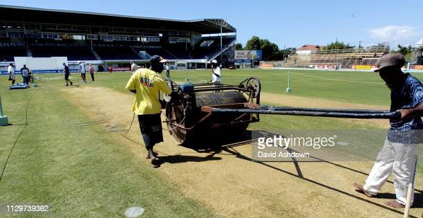 1st TEST AT SABINA PARK JAMAICA WEST INDIES V ENGLAND THE WICKET.
