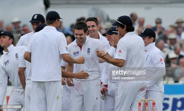 1st TEST AT TRENT BRIDGE 2 nd DAY 30/7/2010. JAMES ANDERSON AFTER TAKINGB THE WICKET OF MOHAMMAD AMIR.