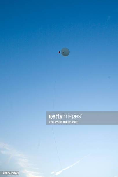 The Weather Balloon Floating Away at National Weather Service Headquarters on October 1 2012 in Sterling Virginia