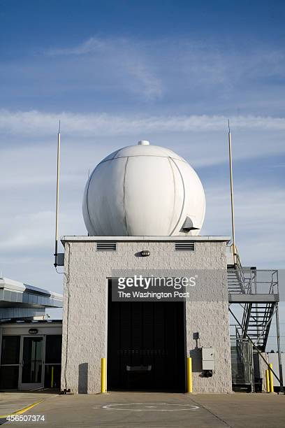 The Weather Balloon Garage with Dome on Roof that Contains a Satellite Dish for Recieving Transmissions from the Radiosonde on the Weather Balloon at...