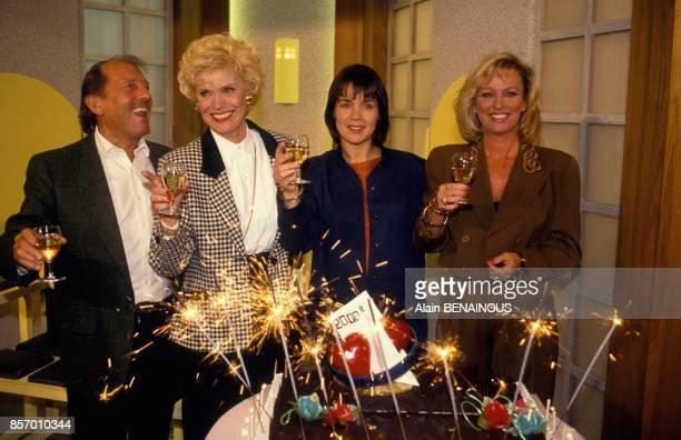 2000e emission de Tournez Manege avec Simone Garnier Fabienne Egal et Evelyne Leclercq le 8 novembre 1991 a Paris France