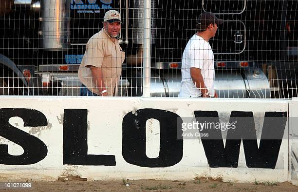 The only place World of Outlaw sprint cars slow down is in the pits at Rocky Mountain National Speedway Tuesday evening. Fans enjoyed over thirty...