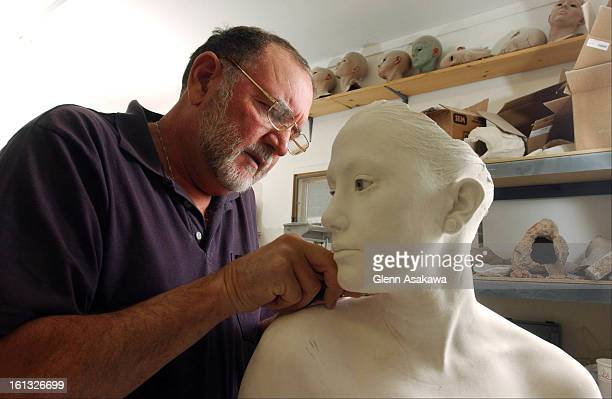 John DeAndrea works in his Jefferson County home studio on a new realistic sculpture that will evenutally be cast in bronze and painted to look...