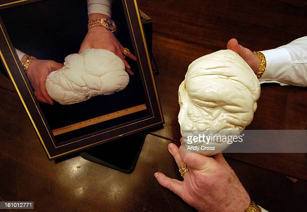 SPRINGS COJANUARY 28TH 2005Victor Barbish <cq> Founder CEO and Chairman of The Pearl For Peace Foundation <cq> holds a replica of The Pearl of LaoTse...