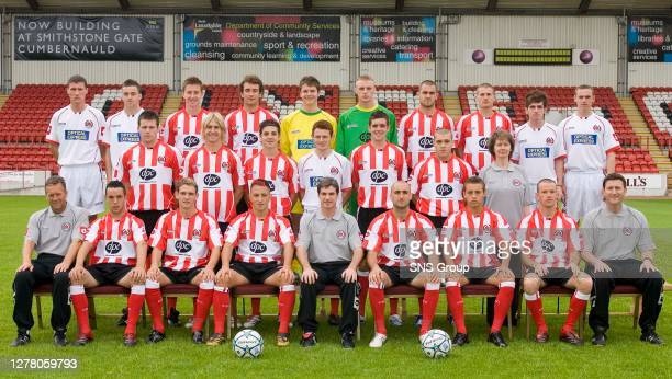 Clyde squad for 2006/2007.Back row : Raymond Ingles, David McGowan, Chris Higgins, Steven Masterton, David Scott, Peter Cherrie, Gary Arbuckle, Roddy...
