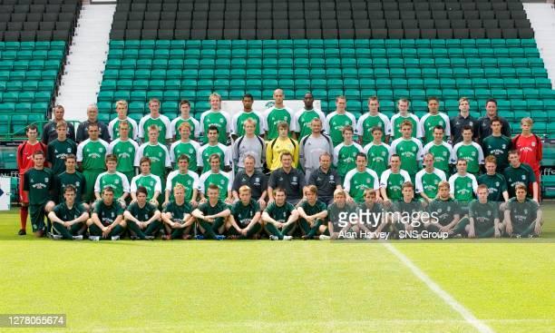 Back row ; Alistair Stevenson, Douglas Fowler, Dean Shiels, Sean Lynch, Steven Notman, Jonathan Baillie, Oumar Konde, Rob Jones, Amadou Konte, Chris...
