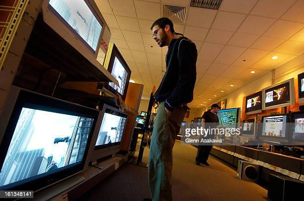WESTMINSTER COLORADOAPRIL 27 2006Brian <cq> Soper <cq> of Westminster looks over plasma televisions in the widescreen television display area at...