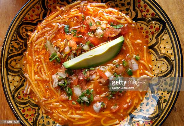 LAKEWOOD COLORADO NOVEMBER 15 2006Chama restaurant's sopa de fideo or Mexican chicken soup for dining review by Tucker Shaw